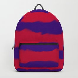 Deep Rich Ruby & Sapphire Indigo Stripes Backpack