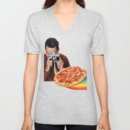 pizza obsession Unisex V-Neck