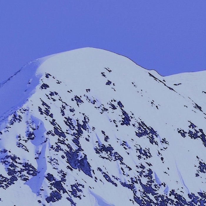 Alaskan Mountains - Periwinkle Leggings