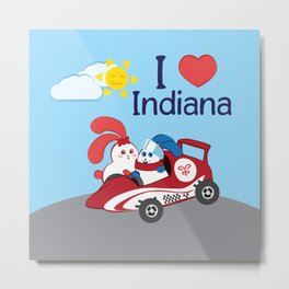 Ernest and Coraline | I love Indiana Metal Print