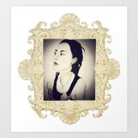 sandra dieckmann Art Prints featuring Sandra by Sindecualo