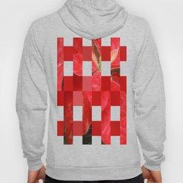 Mottled Red Poinsettia 1 Ephemeral Art Rectangles 15 Hoody