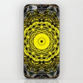Yellow black design iPhone Skin