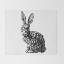 Ornate Rabbit Throw Blanket
