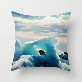 Ice Blue Throw Pillow