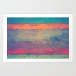 abstract color rainbow Art Print