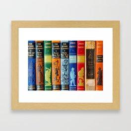 Vintage Children's Books Framed Art Print