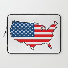 United States Map with American Flag Laptop Sleeve