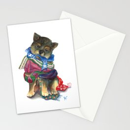 Covered in Neck Blankets Stationery Cards