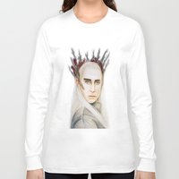 thranduil Long Sleeve T-shirts featuring Thranduil by Olivia Nicholls-Bates