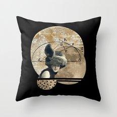 Moon Maiden Throw Pillow