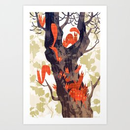 The Devils of Dark Bark Art Print