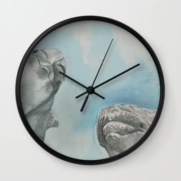 Watercolor Dolphins Wall Clock