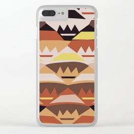 African Tribal Pattern No. 27 Clear iPhone Case