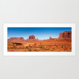 John Ford Point Panorama at Monument Valley Art Print
