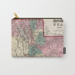 Vintage Map of Utah (1873) Carry-All Pouch