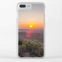 Sunrise on Elam Clear iPhone Case
