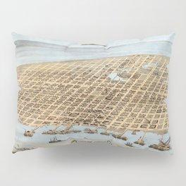Map Of Galveston 1871 Pillow Sham