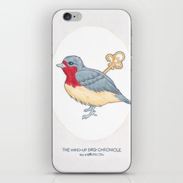 Haruki Murakami's The Wind-Up Bird Chronicle // Illustration of a Bird with a Wind-up Key in Pencil iPhone Skin