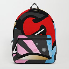 Two lovely hearts Backpack