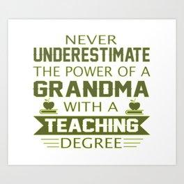 Grandma Teacher Art Print