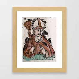 Archbishop Hatto eaten alive by mice in 974 A.D. Framed Art Print