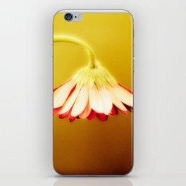 Flower | Flowers | Glowing Yellow Drooping Flower iPhone Skin