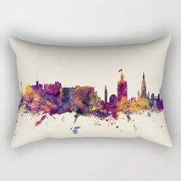 Edinburgh Scotland Skyline Rectangular Pillow