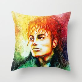Man in the mirror Throw Pillow