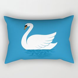 Just The One Swan Actually Rectangular Pillow