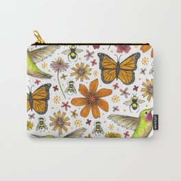 birds butterflies and blooms Carry-All Pouch