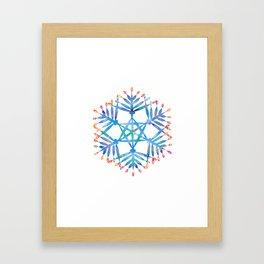 hanukkah menorah flake Framed Art Print
