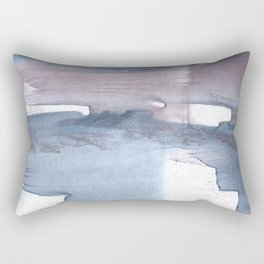 Dark gray colorful watercolor texture Rectangular Pillow