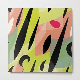 Splatter Burn Neon Chartreuse Print Variation Metal Print