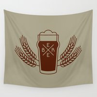 beer Wall Tapestries featuring Beer. by Sparganum