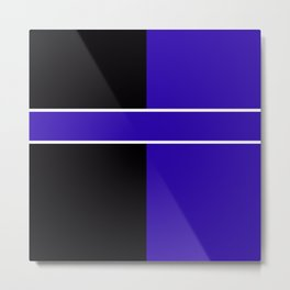Team Colors 6...Blue,black Metal Print