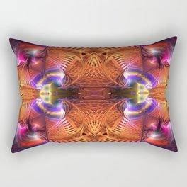 Neon Magic Abstract Rectangular Pillow