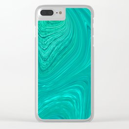 Slippery Ocean Clear iPhone Case