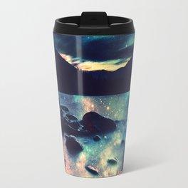 Magical Mountain Lake : Deep Pastels Teal Mauve Travel Mug