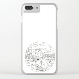 Yurt Dreams Clear iPhone Case