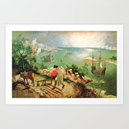 Landscape With The Fall Of Icarus Painting Pieter Bruegel The Elder Art Print