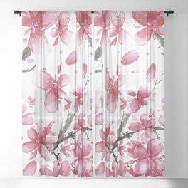 Cherry Blossoms #society6 #buyart Sheer Curtain