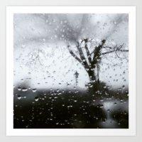 only the rain Art Print