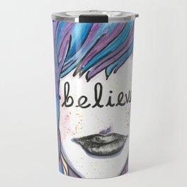 """Words Within: """"Believe"""" Travel Mug"""