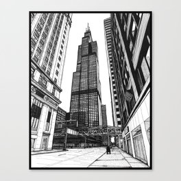 On the Shoulders of Giants - Original Drawing Canvas Print