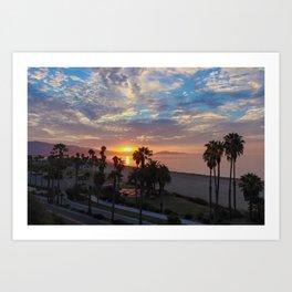 Big Blue Sunrise in Santa Barbara Art Print