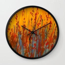 Wildflower Field Acrylic Painting Wall Clock