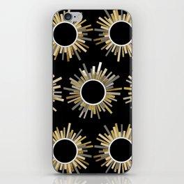Art Deco Starburst in Black iPhone Skin