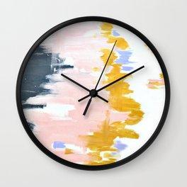 Multicolor spring abstract Wall Clock