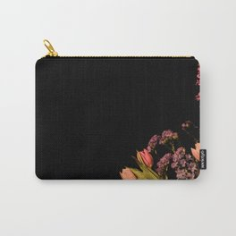 Floral Corner Carry-All Pouch